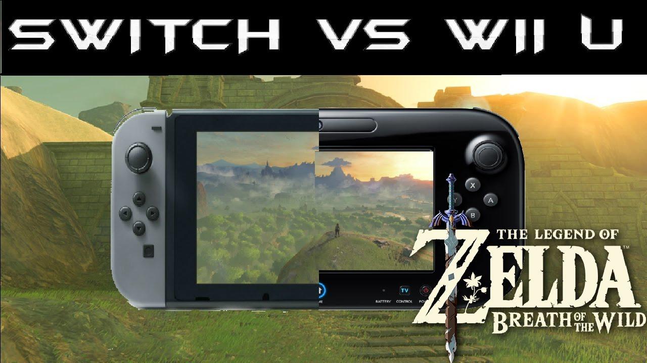 Comparación Gráfica de Zelda Breath of the Wild Nintendo Switch VS Wii U, Gameplay