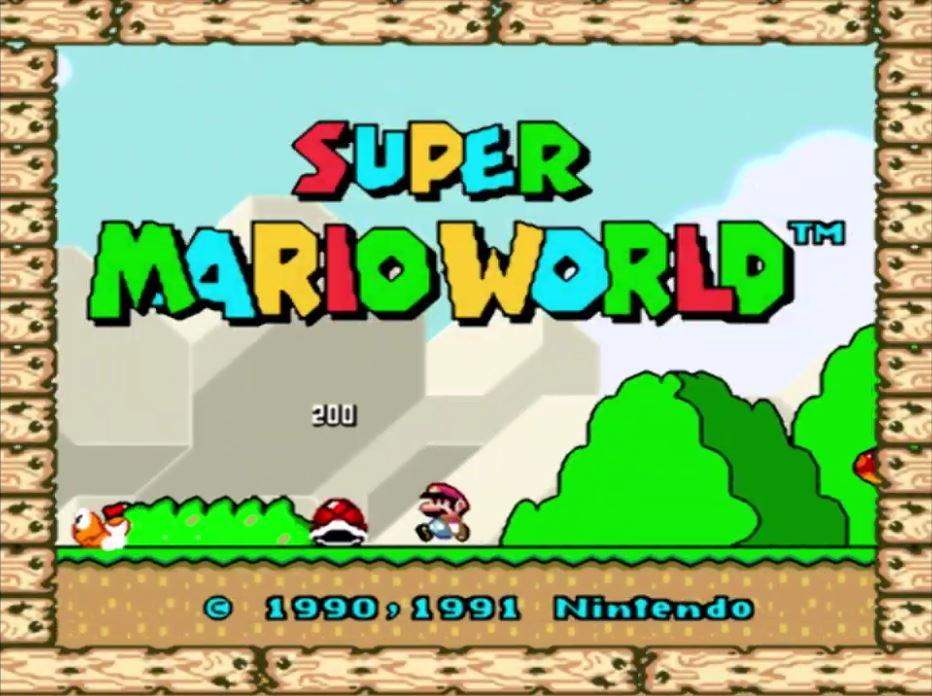 Gameplay de Super Mario World Mundo 1 Super Nintendo
